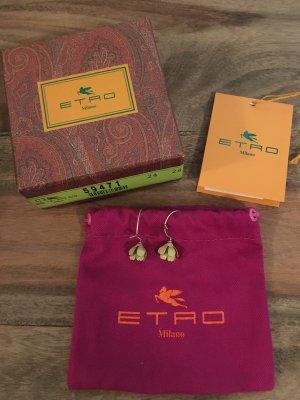 Etro - Versilberte Ohrringe mit Emaille (NP 140 EUR)
