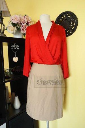 Etui Blusenkleid nude koralle Mango Suit