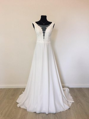 Etui Boho Brautkleid Hochzeitskleid Gr. 38 Ivory