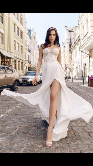 Etui Boho Vintage Brautkleid Hochzeitskleid Gr. 38 Ivory