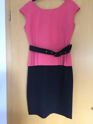 Sheath Dress black-pink viscose