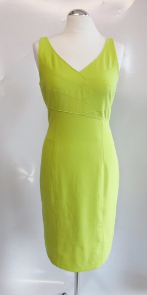 Etui Kleid Apanage femme Größe M 38 Viskose Mesh Limette Kiwi Gelb Neon Sexy Bleistift Stretch Minikleid Business