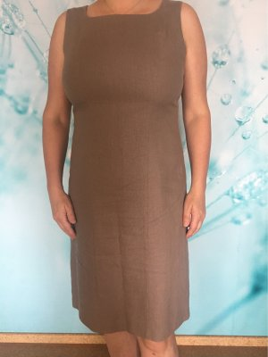 Bexleys Sheath Dress grey brown linen