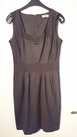 Etui-Kleid in Dunkelgrau mit leichten Nadelstreifen