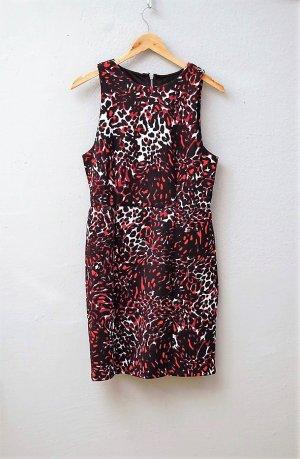Etui Kleid mit Animal Print