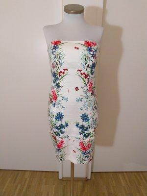 Etui Kleid Schulterfrei Floral Gr. M