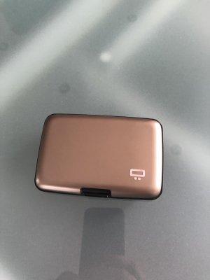 Porte-cartes gris brun-bronze