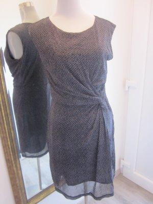 Etuie Strech Kleid schwarz grau Gr 40 #soliver