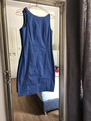 Robe fourreau bleuet coton