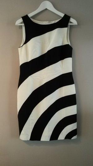 Laurèl Vestido ceñido de tubo blanco-negro Algodón
