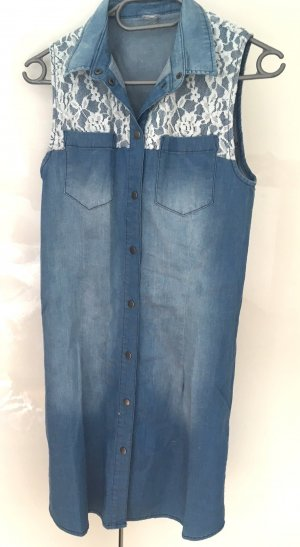 Etuikleid aus Jeans mit Spitze, Object, Gr. 36