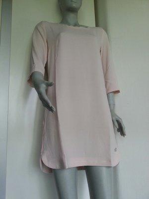 Etuikleid Blusenkleid Tunika Sneaker Kleid Mango rosa nude 3/4 Ärmel Seitenschlitz