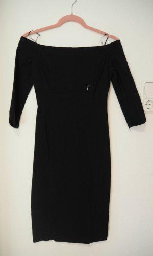 Zara Basic Off the shoulder jurk zwart