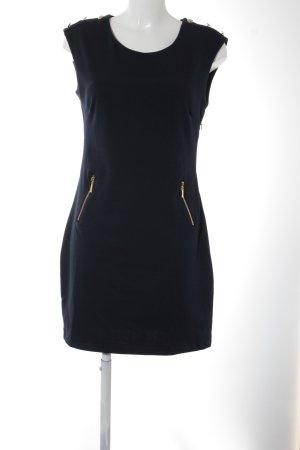 Etuikleid dunkelblau-goldfarben Elegant