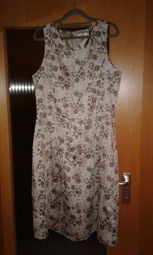 Anne L. Sheath Dress grey brown-white