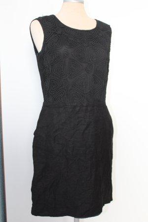 Etuikleid Kleid schwarz Next Gr. 10 38 SM Leinen Viskose Brokat gothic