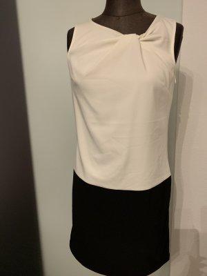 Etuikleid Kleid von Promod Gr 34 36 XS schwarz-Creme