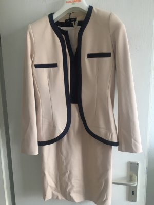 Lawrence Grey Vestido ceñido de tubo crema-azul oscuro