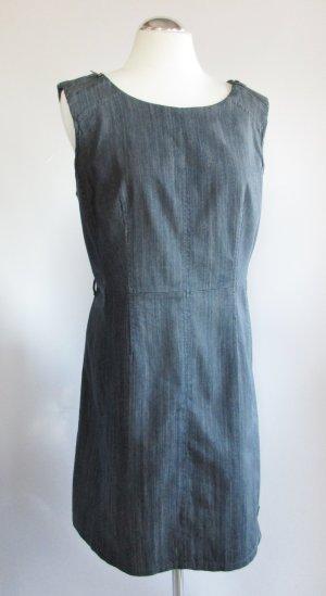 Etuikleid Leichtes Jeans Kleid Street One Größe 42 L Dunkelblau Dark Schlicht Denim Meliert Etui Locker