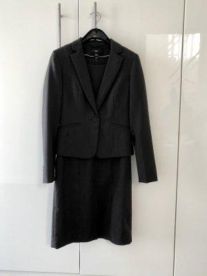 Etuikleid mit Blazer in anthrazit von H&M, Gr. 36. Kaum getragen.