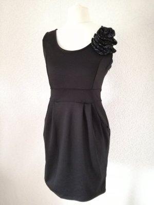 Etuikleid mit Spitzen Blüte Minikleid Etui Kleid