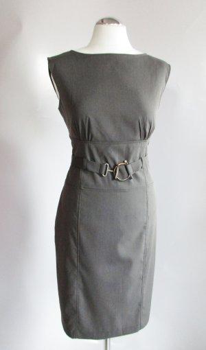 Etuikleid Orsay Größe 40 figurbetont Empire Kleid Business Braun Blau Grau Schnalle Gürtel Sexy Pencil Dress Greige Sekretärin