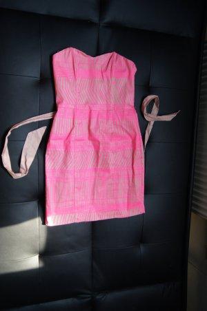 Etuikleid Schlauchkleid Partykleid enges Kleid Minikleid mit Gürtel Neonpink