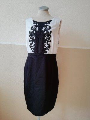 Etuikleid schwarz weiß Gr. 40 neu Kleid elegant H&M Spitze