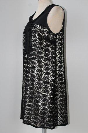 Next Vestido ceñido de tubo negro-blanco puro Algodón