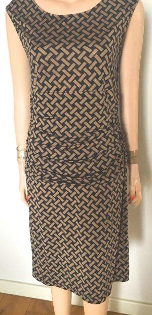 St. emile Vestido línea A negro-marrón claro Viscosa