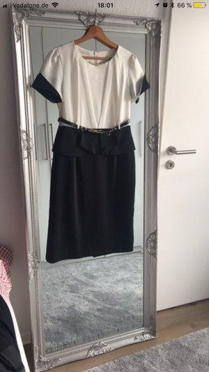 Robe crayon blanc-noir