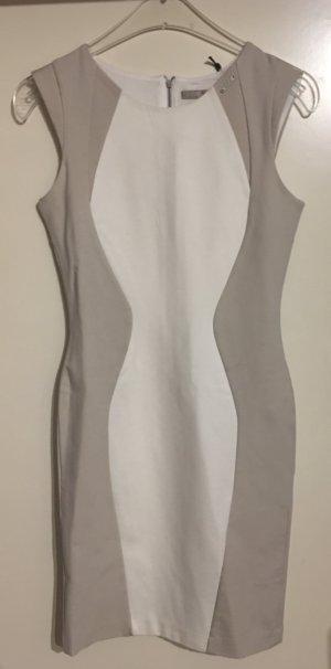 Guess Vestido ceñido de tubo blanco-beige