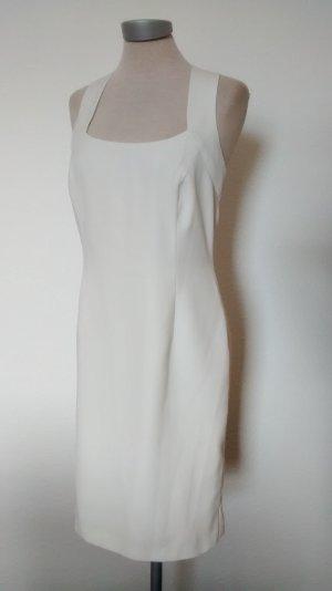 Etuikleid weiß gekreuzte Träger Gr. UK 10 EUR 38 Richards Kleid knielang