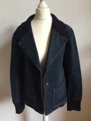 Etwas andere Jeansjacke in Blaseroptik - schick in Dunkelblau