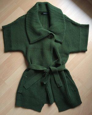 Etwas längere Grobstrickjacke mit Gürtel in tollem grün von zero in Größe 36