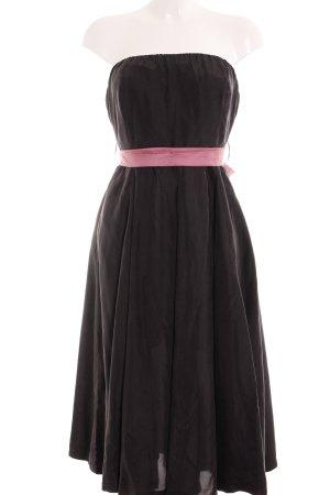 Eucalyptus Vestido bandeau gris antracita-rosa empolvado elegante