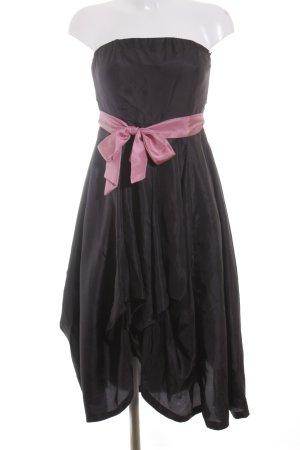 Eucalyptus Bandeaukleid schwarz-pink Elegant