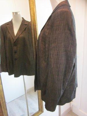 Eugen Kleid Designer Blazer Jacket Goldbraun Gr 48 XL