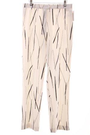 Eugen Klein Hose schwarz-weiß Street-Fashion-Look