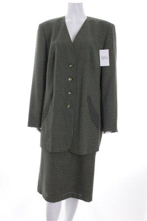 Eugen Klein Kostüm dunkelgrün-hellgrün Webmuster klassischer Stil