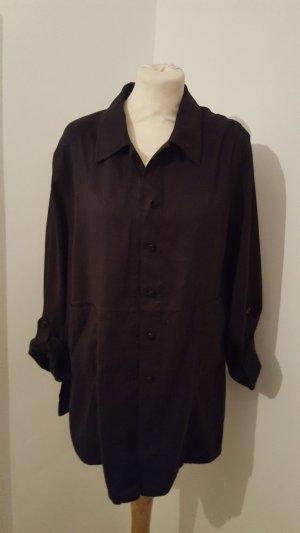 Eugen Klein Marken Bluse Hemd Damen Krempelbluse schwarz Größe 42