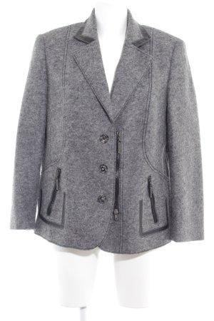 Eugen Klein Chaqueta de lana gris moteado look casual