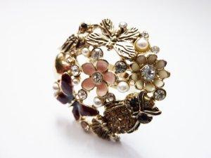 Eulen Blüten Blume Ring Statement Ring Boheme