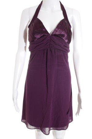 Eureka Vestido de chifón violeta oscuro elegante