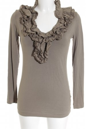 European Culture Bodysuit Blouse green grey casual look