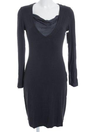 European Culture Jerseykleid dunkelblau schlichter Stil