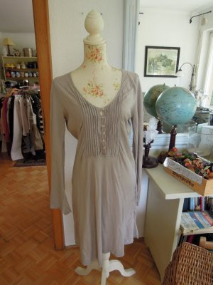European Culture Kleid Seide Beige Gr. L