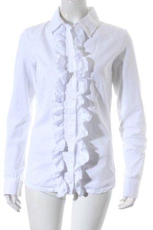 European Culture Rüschen-Bluse weiß Elegant