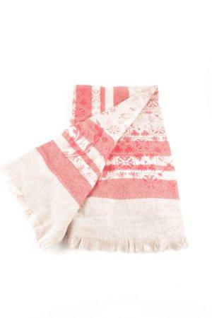 European Culture Bufanda de lana rojo-blanco puro look casual