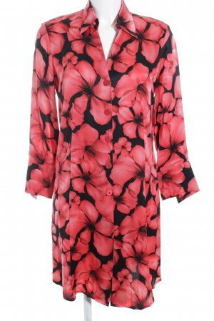 Eva B.Bitzer House-Frock black-red flower pattern lingerie style